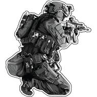Наклейка Солдат с автоматом, фото 1