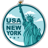 Наклейка USA New York, фото 1