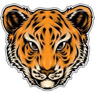 Наклейка Голова тигра, фото 1