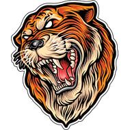 Наклейка Оскал тигра, фото 1