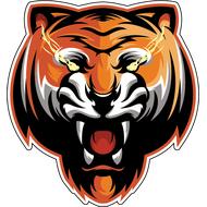 Наклейка Тигриный оскал, фото 1