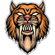 Наклейка Саблезубый тигр, фото 1