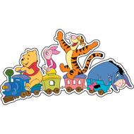 Наклейка Винни, Пятачок, Тигра и ослик Иа на паровозике, фото 1