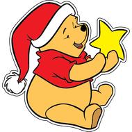 Наклейка Винни Пух со звездой, фото 1