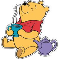 Наклейка Винни Пух с чаем, фото 1