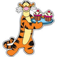 Наклейка Тигра с кексами, фото 1