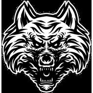 Наклейка Оскал Волка-091, фото 1