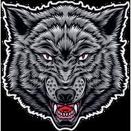 Наклейка Голова волка, фото 1