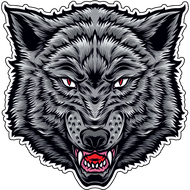 Наклейка Волк-092, фото 1
