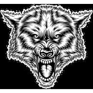 Наклейка Волчий оскал, фото 1