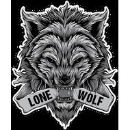 Наклейка Lone Wolf, фото 1