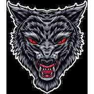 Наклейка Волк-099, фото 1