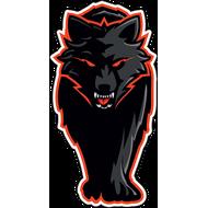 Наклейка Огненный волк, фото 1