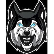 Наклейка Волк с голубыми глазами, фото 1
