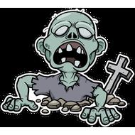 Наклейка Зомби вылезает из могилы, фото 1