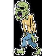 Наклейка Зомби в желтой толстовке, фото 1