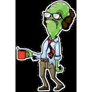 Наклейка Зомби с кружкой, фото 1