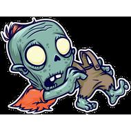 Наклейка Зомби и его ноги, фото 1