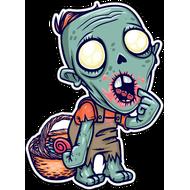 Наклейка Зомби просит кушать, фото 1