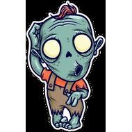 Наклейка Удивленный зомби, фото 1