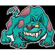 Наклейка Собака Зомби, фото 1