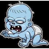 Наклейка Зомби малыш, фото 1