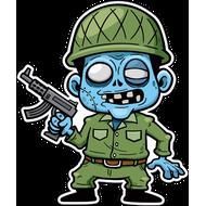 Наклейка Зомби солдат, фото 1