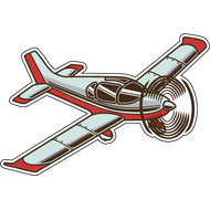 Наклейка Самолет-7, фото 1