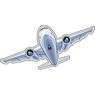 Наклейка Самолет-12, фото 1