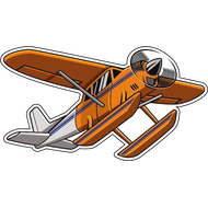 Наклейка Самолет-13, фото 1