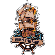 Наклейка Burn the Ship, фото 1