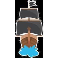 Наклейка Корабль с черными парусами, фото 1