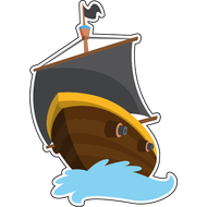 Наклейка Корабль с черным парусом, фото 1