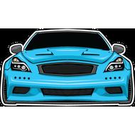 Наклейка Nissan GTR, фото 1