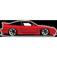 Наклейка Красный спортивный автомобиль, фото 1
