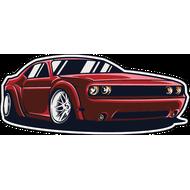 Наклейка Dodge Challenger, фото 1