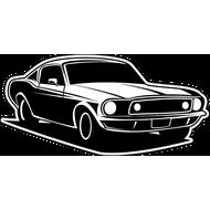 Наклейка Mustang-61, фото 1