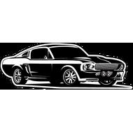 Наклейка Mustang-62, фото 1
