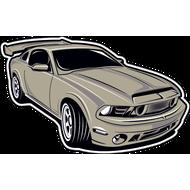 Наклейка Mustang-75, фото 1