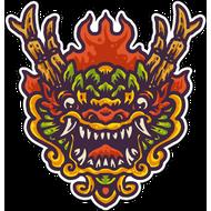 Наклейка Дракон-120, фото 1