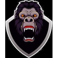 Наклейка голова гориллы, фото 1