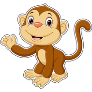 Наклейка Маленькая обезьянка, фото 1