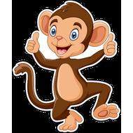 Наклейка Малыш обезьяны, фото 1