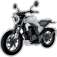Наклейка Мотоцикл-147, фото 1