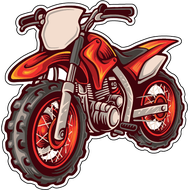 Наклейка Мотоцикл-150, фото 1