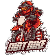 Наклейка Dirt Bike, фото 1