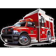 Наклейка Пожарная машина, фото 1