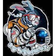 Наклейка Кролик космонавт, фото 1