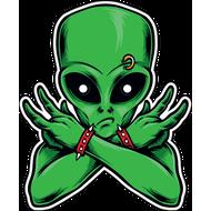 Наклейка Зеленый человечек, фото 1