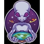 Наклейка Мир в руках пришельца, фото 1